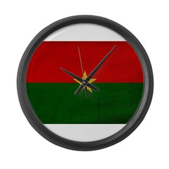 Burkina Faso Flag Large Wall Clock