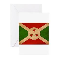 Burundi Flag Greeting Cards (Pk of 10)