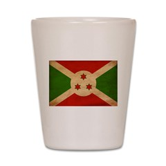Burundi Flag Shot Glass