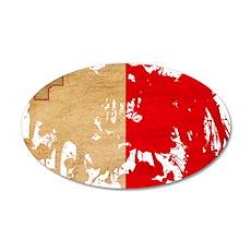 Malta Flag 22x14 Oval Wall Peel