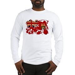 Manitoba Flag Long Sleeve T-Shirt