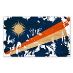 Marshall Islands Flag Sticker (Rectangle 10 pk)