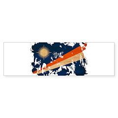 Marshall Islands Flag Bumper Sticker