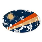 Marshall Islands Flag Sticker (Oval)