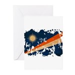 Marshall Islands Flag Greeting Cards (Pk of 10)