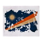 Marshall Islands Flag Throw Blanket