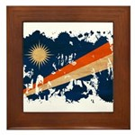 Marshall Islands Flag Framed Tile