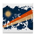 Marshall Islands Flag Tile Coaster