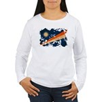 Marshall Islands Flag Women's Long Sleeve T-Shirt