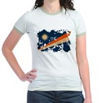 Marshall Islands Flag Jr. Ringer T-Shirt