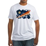 Marshall Islands Flag Fitted T-Shirt