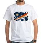 Marshall Islands Flag White T-Shirt