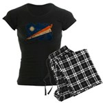 Marshall Islands Flag Women's Dark Pajamas