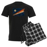 Marshall Islands Flag Men's Dark Pajamas