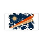 Marshall Islands Flag Aluminum License Plate