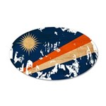 Marshall Islands Flag 38.5 x 24.5 Oval Wall Peel