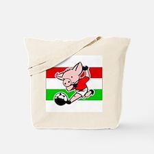 Hungary Soccer Pigs Tote Bag