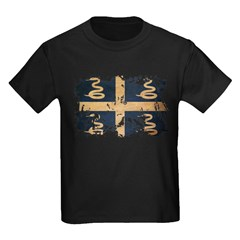 Martinique Flag Kids Dark T-Shirt