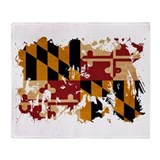 Maryland state flag throw Blankets