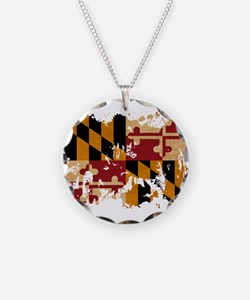 Maryland Flag Necklace