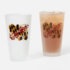 Maryland Flag Drinking Glass