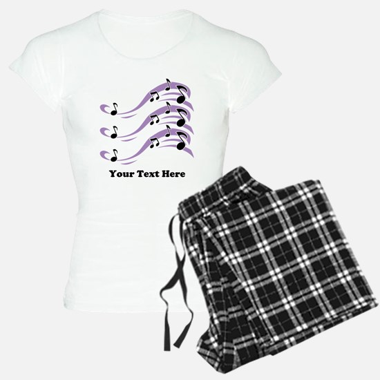 Musical Notes and Text. Pajamas