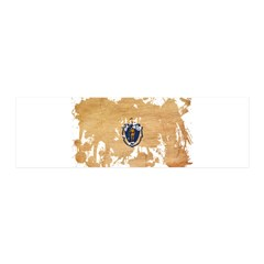 Massachusetts Flag 21x7 Wall Peel
