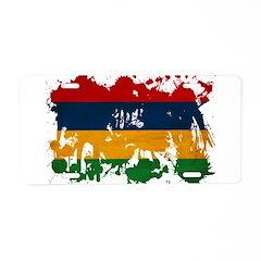 Mauritius Flag Aluminum License Plate