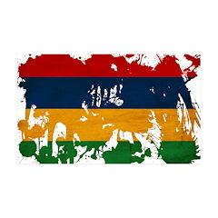Mauritius Flag 38.5 x 24.5 Wall Peel