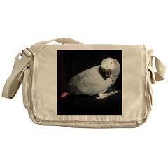 Gretchen's African Grey Messenger Bag