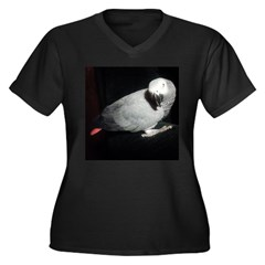 Gretchen's African Grey Women's Plus Size V-Neck D