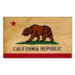 California Flag Sticker (Rectangle 10 pk)
