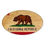 California Flag Sticker (Oval)