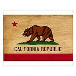 California Flag Small Poster