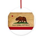 California Flag Ornament (Round)