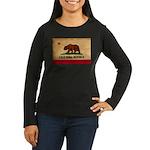 California Flag Women's Long Sleeve Dark T-Shirt