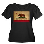 California Flag Women's Plus Size Scoop Neck Dark