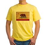 California Flag Yellow T-Shirt