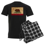California Flag Men's Dark Pajamas