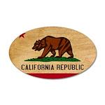 California Flag 38.5 x 24.5 Oval Wall Peel