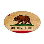California Flag 22x14 Oval Wall Peel