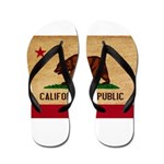 California Flag Flip Flops