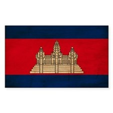 Cambodia Flag Decal