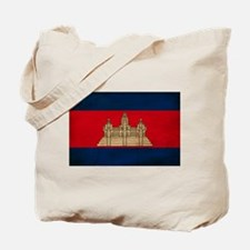 Cambodia Flag Tote Bag
