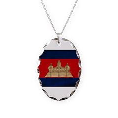 Cambodia Flag Necklace