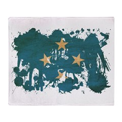 Micronesia Flag Throw Blanket