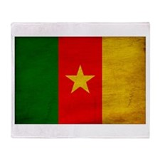 Cameroon Flag Throw Blanket