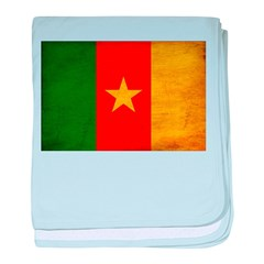 Cameroon Flag baby blanket