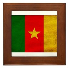 Cameroon Flag Framed Tile