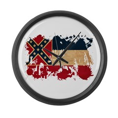 Mississippi Flag Large Wall Clock